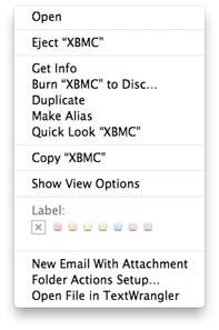Eject XBMC