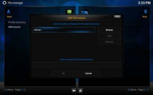 Inputing fusion server url