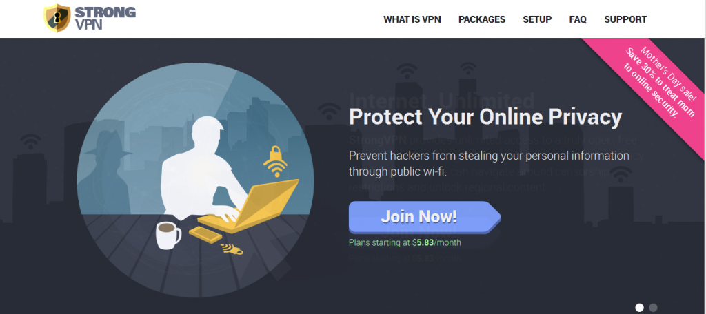 Strong VPN Website