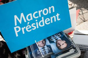 Political flyers and booklets supporting the candidacy of Emmanuel Macron for the second round of the 2017 french presidential election.