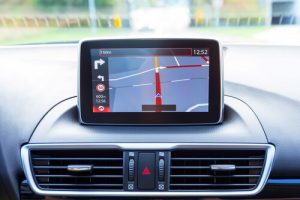 navigation unit in car