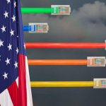 Ethernet cables emerge with different lengths from US Flag
