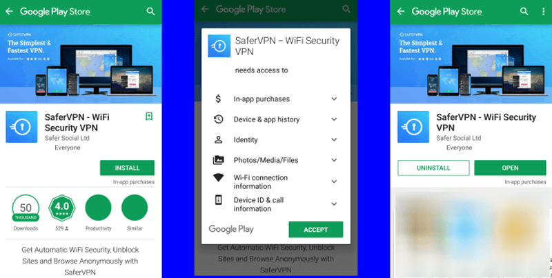 download free safervpn android