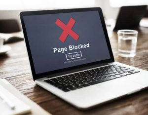 Page Blocked Error Data Internet Online Technology Concept