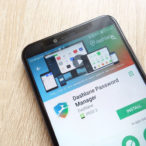 Dashlane Password Manager app on Google Play Store website displayed on Huawei Y6 2018 smartphone
