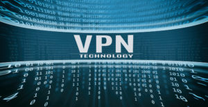 VPN Technology written in binary code.