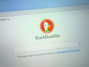 Website of DuckDuckGo, an Internet search engine.