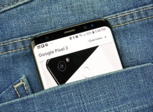Pixel 2 is a smartphone developed by Google. Google is an American technology company which provides a variety of internet services.
