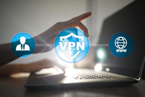 VPN. Virtual private network. Security encrypted connection. Anonymous internet using.