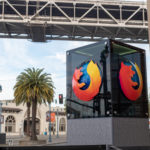 Mozilla sign and Firefox logo outside of San Francisco location entrance.