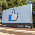 Sign of Facebook at the entrance of headquarter in Silicon Valley, San Francisco