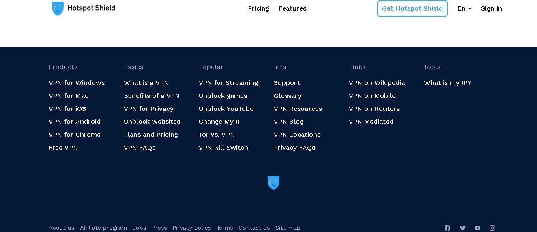 Free VPN button.